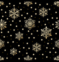 snow pattern on black background vector image