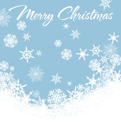 Snowflakes Chrismas Card Blue 2 vector image