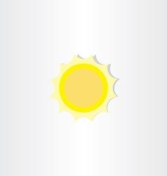 Soft light yellow sun icon vector