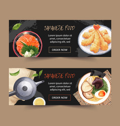 Soft watercolor design for banners various vector