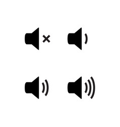Sound icon speaker volume audio volume vector