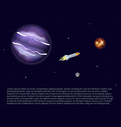 spaceship rocket in space vector image