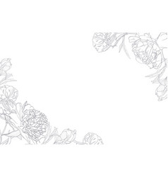 spring floral border frame template vector image