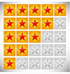 star rating set vector image
