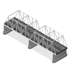 Steel Railway Bridge Isometric View vector image