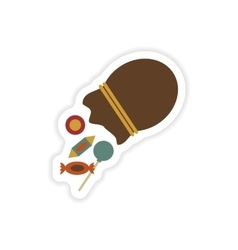 Stylish paper sticker on a white background Candy vector