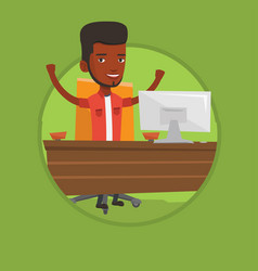 successful business man vector image