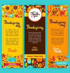 Thanksgiving vertical flyers vector