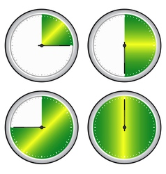 Time steps icon vector