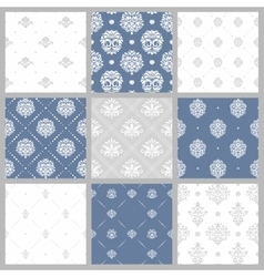 Victorian pattern white baroque wallpaper vector