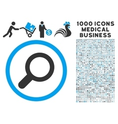 View Icon with 1000 Medical Business Pictograms vector
