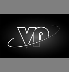 Vp v p letter alphabet logo black white icon vector