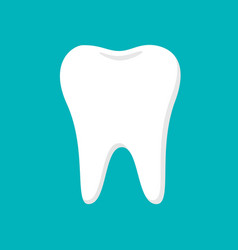 white tooth on blue background vector image