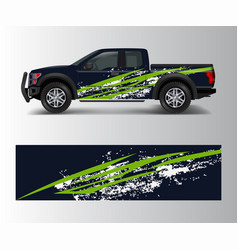 Wrap graphic design for off road truck abstract vector
