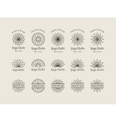 Yoga Studio Logo Templates Set vector