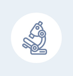 microscope line icon isolated over white vector image vector image