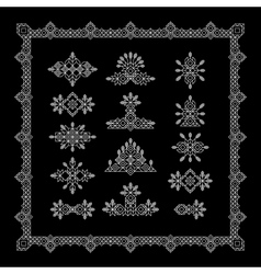 Set of Vintage Graphic Elements for Design Line vector image