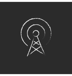 Antenna drawn in chalk vector image