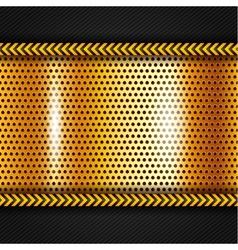 Golden metallic surface vector image