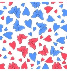 Happy Valentine day romantic seamless pattern vector image