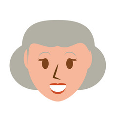 Retro old woman cartoon vector