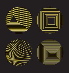 spirograph style decorative design elements vector image
