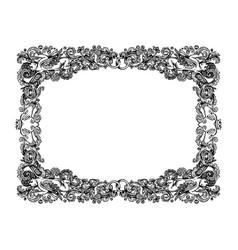 vintage wedding vignette frame vector image vector image