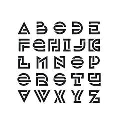 bold broken latin font vector image vector image