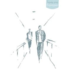 Drawn business men office concept sketch vector image vector image