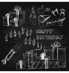 Happy birthday collection vector image vector image