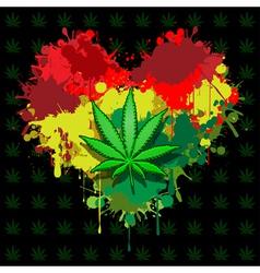 Love marijuana vector image vector image