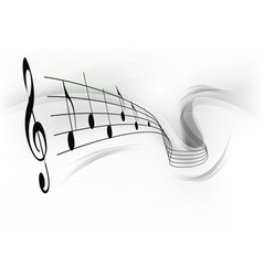 music note background grey vector image vector image