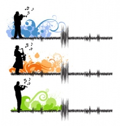 music players vector image
