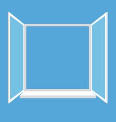opened window isolated on blue background vector image