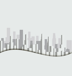 panorama of city with skyscrapers megalopolis vector image vector image
