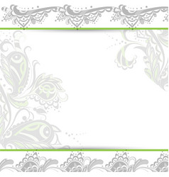 abstract background oriental floral vector image