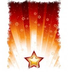 festive star vector image vector image