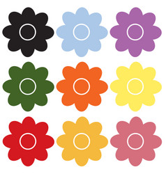 flower icon on white background flower sign vector image
