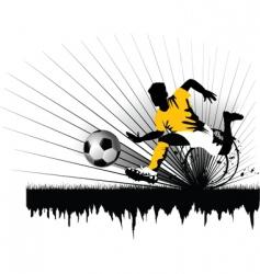 football defender vector image vector image