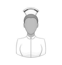 Nurse icon black monochrome style vector image vector image