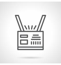 Personal badge black line icon vector image