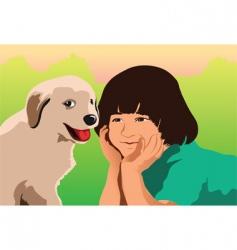 puppy love vector image