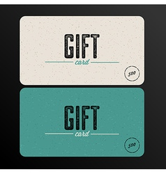 Retro Gift card teal template vector image vector image
