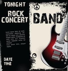 rock concert grunge background vector image