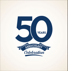 50 years anniversary black template background vector