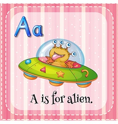 A letter A for alien vector