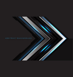 Abstract silver black circuit blue light arrow vector
