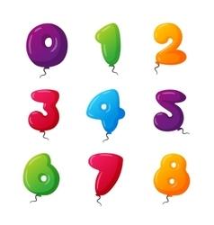 Balloon numbers set vector