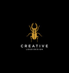 beetle bug logo diamond logo jewelry logo vector image