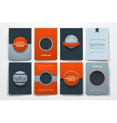 brochures with doodles backgrounds on vector image